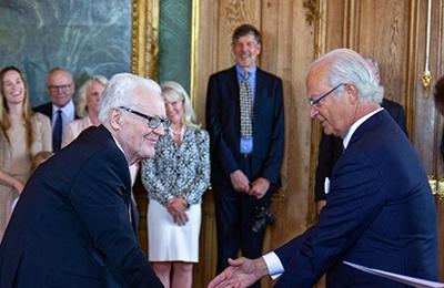 Göran Åberg fick medalj av H M Kungen